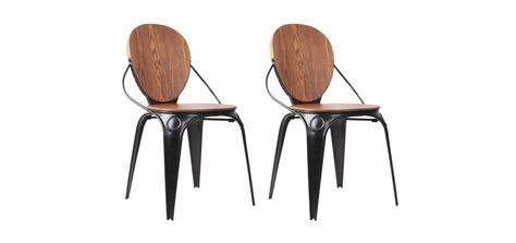 chaise bois et metal chaise louis industry craquez pour nos chaises