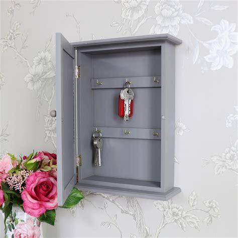 grey wall mounted wooden key cabinet melody maison