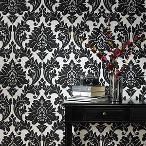 Tapete Barock Schwarz : vlies tapete barock muster ornament schwarz wei silber klassisch neo barock kaufen bei ~ Yasmunasinghe.com Haus und Dekorationen