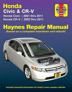 Haynes Repair Manual For Honda Civic  U0026 Cr