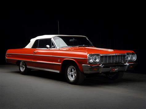 1964 chevrolet impala convertible classic muscle wallpaper