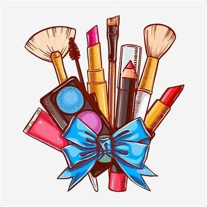 Makeup Cartoon Brush Clipart Cosmetic Psd