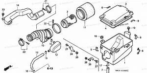Honda Atv 1999 Oem Parts Diagram For Air Cleaner