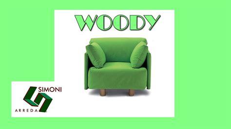 Poltrona Letto Singolo Con Rete A Doghe Woody