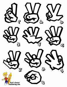 printable sign language alphabet in graffiti free cool With sign letters online