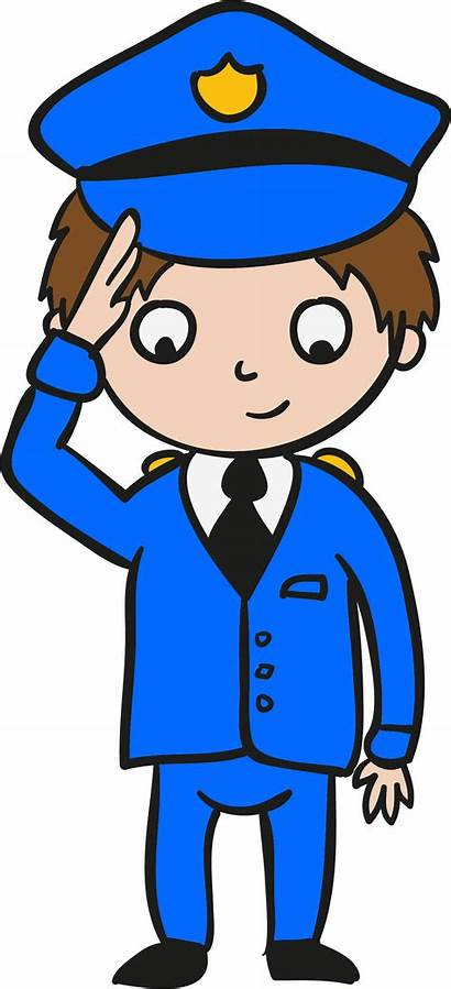 Clipart Police Policeman Salute Officer Transparent Alarm