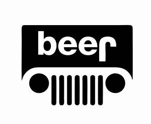 Beer jeep decal for Beer logo creator