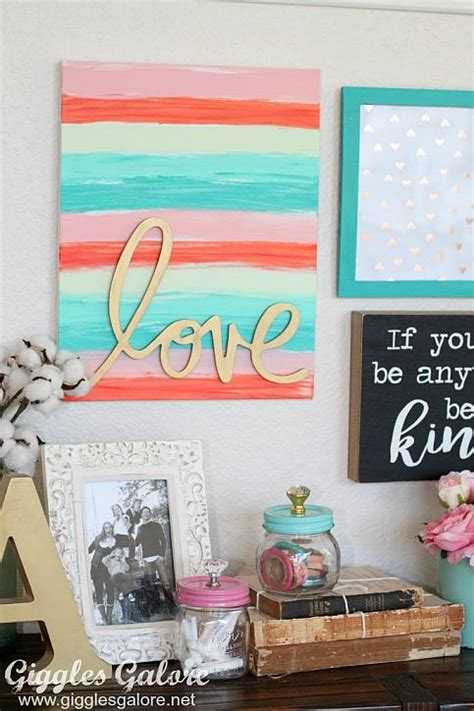 decoart blog crafts love word art canvas