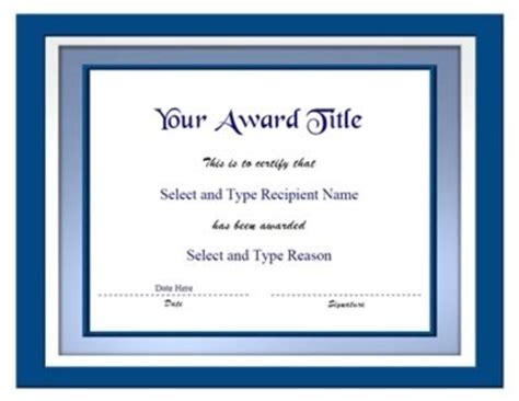 powerpoint templates   blank certificate