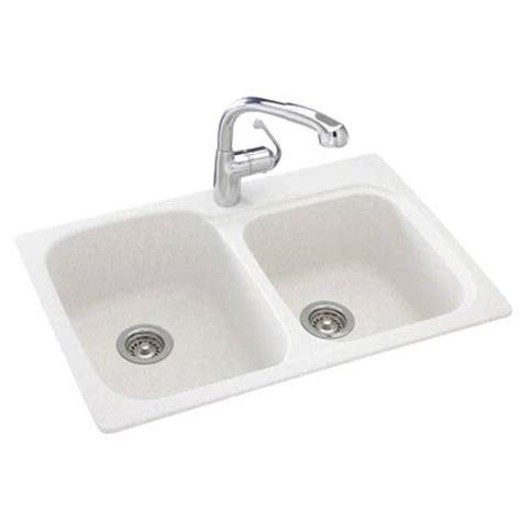 the swan corp ksdb3322 010 swanstone kitchen sink 33x22 white at sutherlands