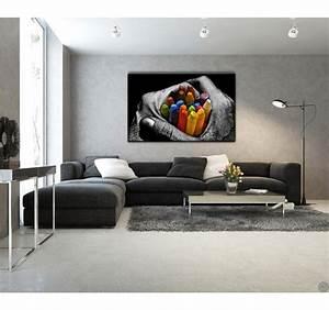 Tableau Salon Design : tableau design crayons de couleur artwall and co ~ Teatrodelosmanantiales.com Idées de Décoration
