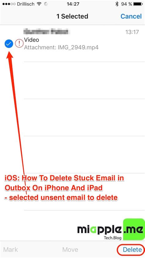 how to delete all email on iphone ios how to delete stuck unsent email in outbox on iphone