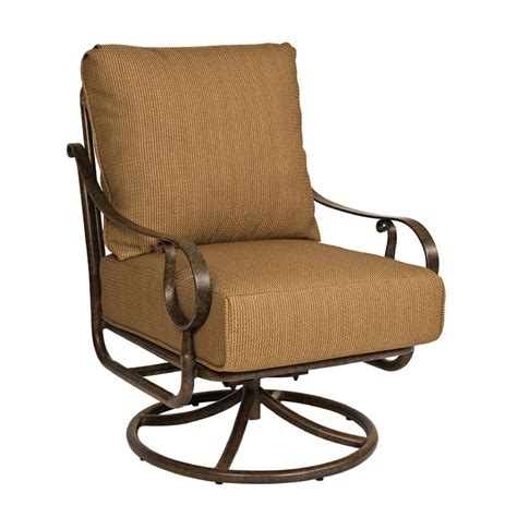 woodard ridgecrest cushion swivel rocking lounge chair