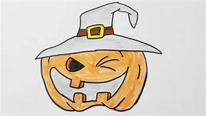 Une Citrouille Pour Halloween : comment dessiner une citrouille d 39 halloween youtube ~ Carolinahurricanesstore.com Idées de Décoration
