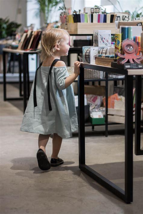 Mazās meitas vasaras lina kleita, gaiši zila   HEBE