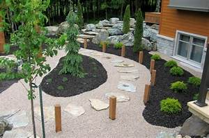 Modele de jardin avec galets en 26 exemples inspirants for Idee deco jardin gravier 2 jardin moderne avec du gravier decoratif galets et plantes
