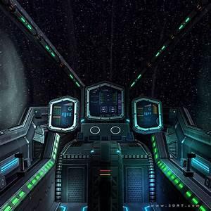 3D model 3DRT - Sci-Fi Spaceship Cockpit 2 VR / AR / low ...