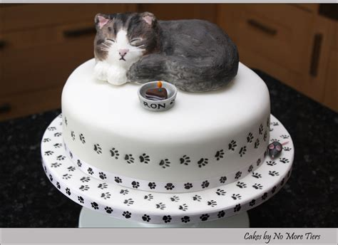 cat cake sculpted cat cake with edible cat topper cake for a