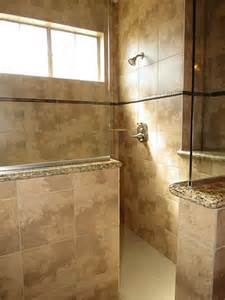 Half Wall Shower with Glass