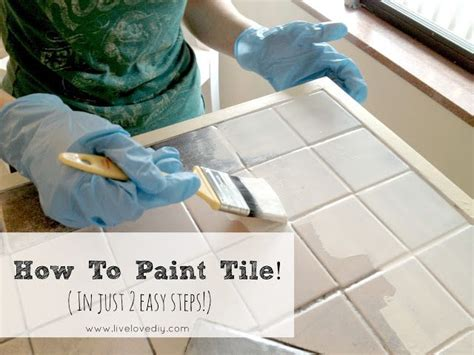 Can I Paint Bathroom Tiles by How To Easily Paint Outdated Tile In Only 2 Steps Amazing