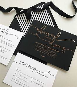 kate foil wedding invitations by project pretty With wedding invitations with foil print