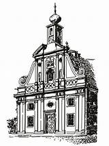Church Coloring sketch template
