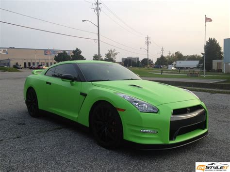 matte green matte lime green nissan gtr vehicle customization shop