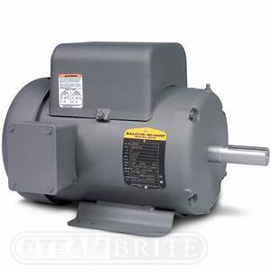 Baldor Motor L3608tm - 5hp - Single Phase - 3450 Rpm - 184t Frame - 230volts - 19 5amps