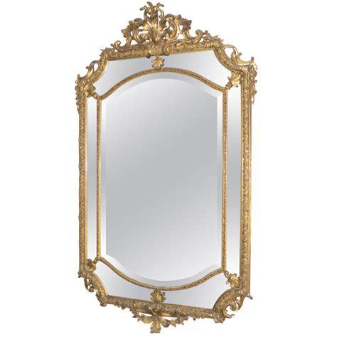 miroir ancien bois dore ancien miroir glace parecloses bois dor 233 epoque xixeme style louis xiv napoleon iii miroirs