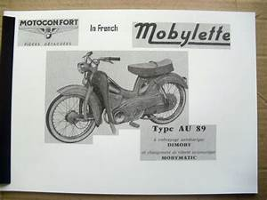 Mobylette  Moped   Av89    In French    Parts Book With Exploded Diagrams