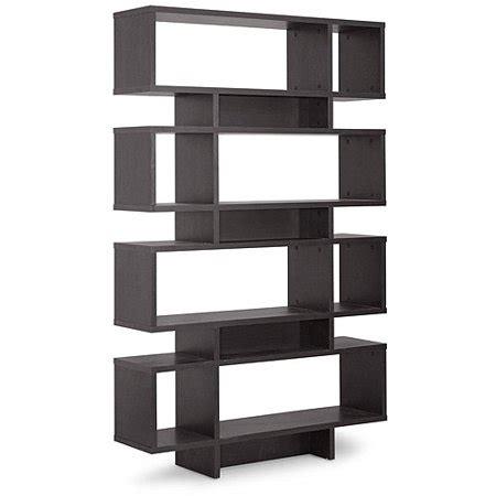 Brown Bookshelf by Cassidy 8 Level Brown Modern Bookshelf Walmart