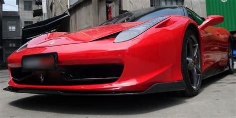 Ferrari 458 italia 2013, compwerks style rear wing with base by d2s®. Ferrari 458 Italia Carbon Fiber Front Lip Spoiler Body Kit