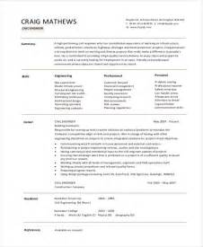 resume templates for civil engineer 12 simple fresher resume templates free premium templates