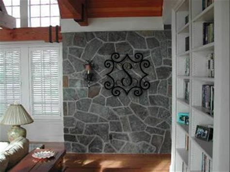 how to tile a kitchen wall wrought iron inspired metal wall with monogram initial 8922