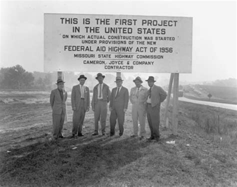 interstate highway system 1956 eisenhower missouri dwight federal which project timetoast modot president pick would constuction funds go timelines timeline