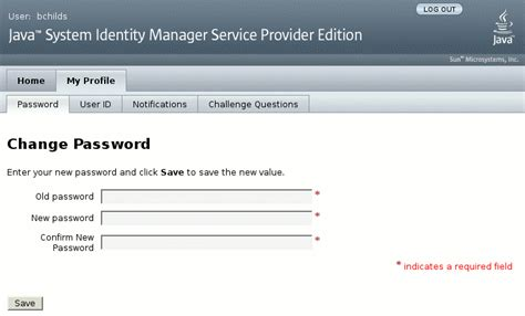 Home and Profile Screens (Oracle Waveset 8.1.1 Business ...