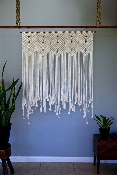 Backdrop Wall Hanging by Macrame Wall Hanging White Cotton 36 Quot Dowel W