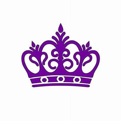 Clipart Crown Princess Silhouette Purple Crowns Svg