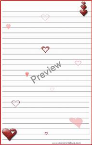 6 best images of romantic printable stationery free With love letter writing paper