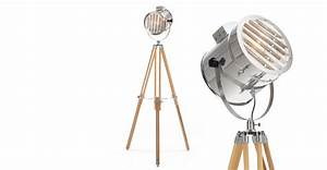 natural wood tripod floor lamp alfred madecom With eden 3 light tripod floor lamp