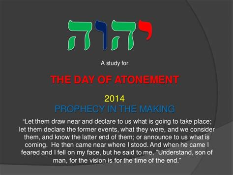 The Day Of Atonement 2014