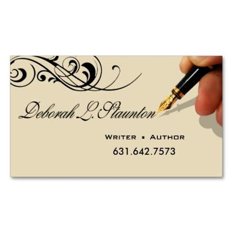 writer editor  stylish creative  deborah business card