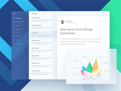 fluent design email app  ghani pradita  paperpillar