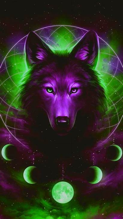 Wolf Galaxy Wallpapers Wolves Backgrounds Zedge Rainbow