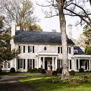 Georgian Brick Home With Slate Roof Dream House Red