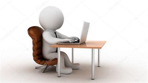 stock bureau direct employé de bureau de dessin animé 3d photo 3738431
