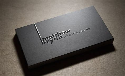 embossed spot uv business card  gsm coated double