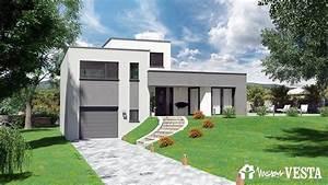 modeles de construction de maison contemporaine With plan maison demi niveau 1 maison 224 demi niveau moselle meurthe et moselle