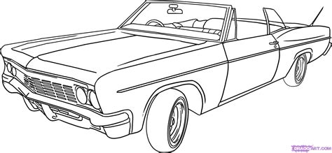 car drawing how to draw a lowrider step by step cars draw cars