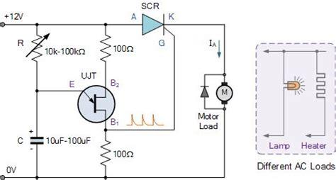 Unijunction Transistor Speed Control Ujt Three